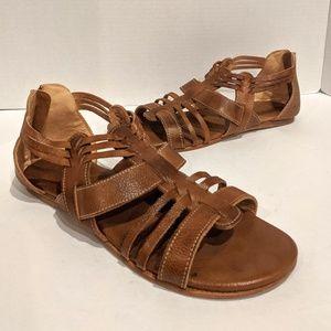 Bed Stu Cara Gladiator Sandals Brown Leather 10